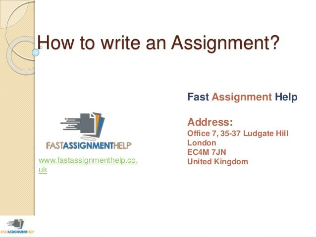Step one: Assignment