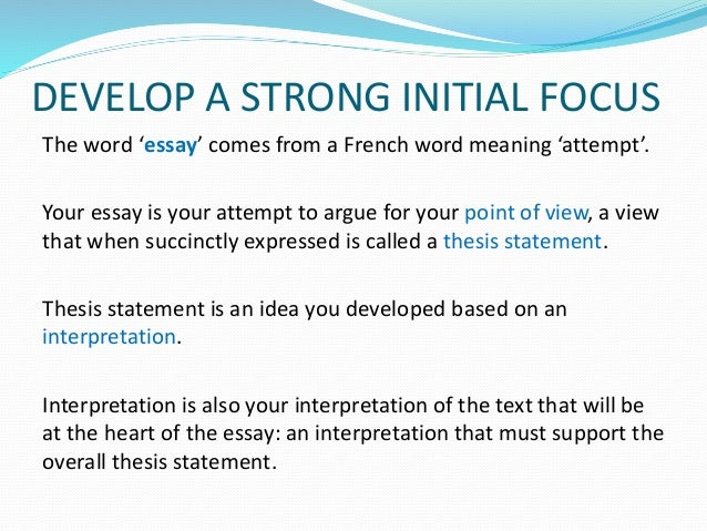 how to interpret an education essay question Interpreting the question this section will help you to identify and interpret the  key parts of typical essay questions  identifying the exact nature of the question :  supported by sydney elearning under the auspices of the dvc (education.