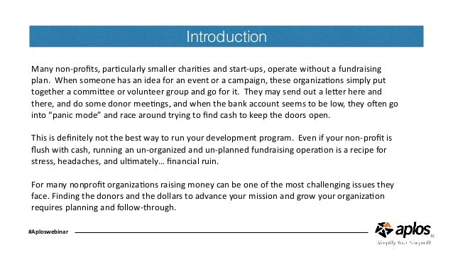 How to write and implement a successful fundraising plan copy
