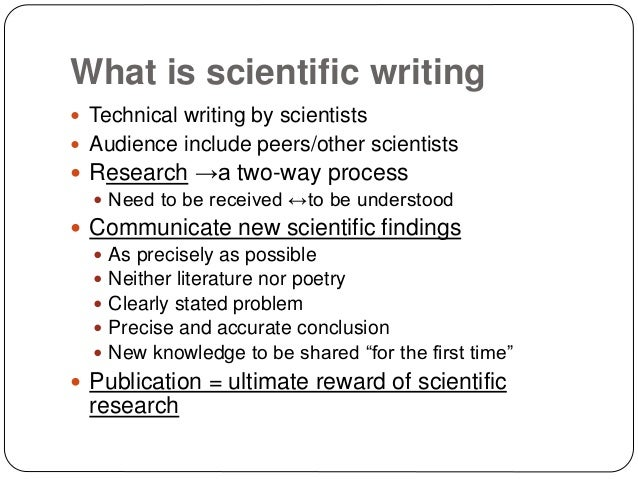 Help writing scientific paper