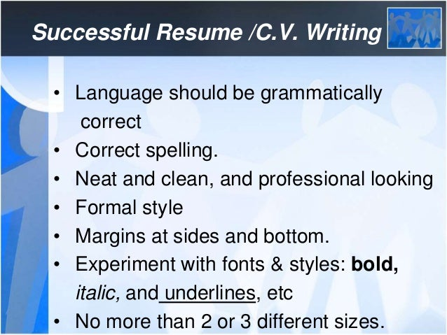 Donu0027t Over Crowd Your C.V.; 15.  Correct Spelling Of Resume