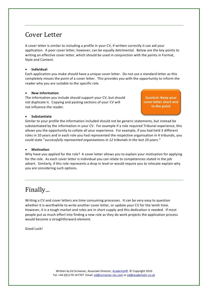 How to write an effective cv for How long does a cover letter have to be