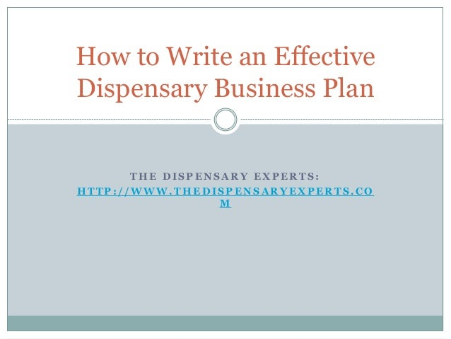 Medical Marijuana Business: How to Write a Business Plan