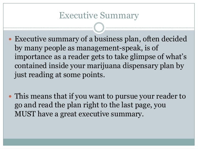 How to Write an Effective Dispensary Business Plan – How to Write an Effective Executive Summary