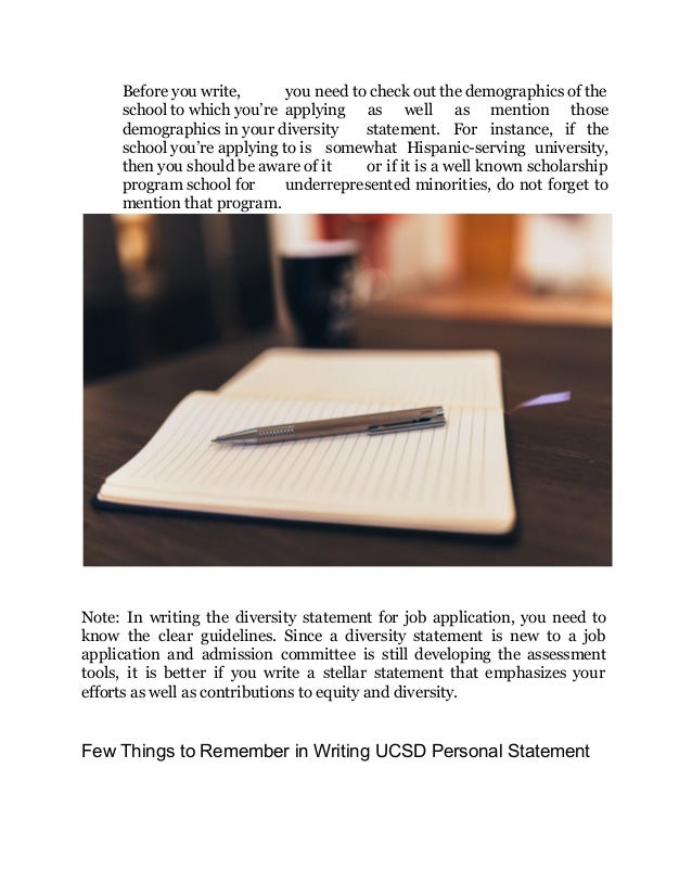 How do you write a personal statement when applying for a job?