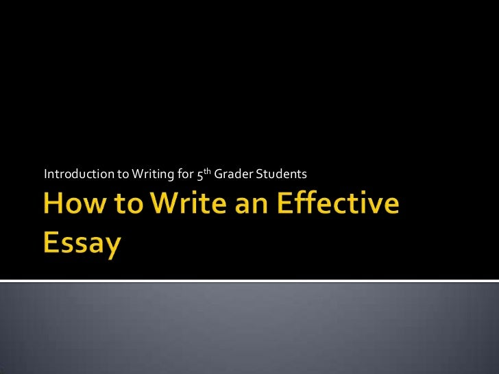 Stages for writing effective essays