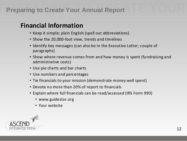 How To Write An Effective Nonprofit Annual Report