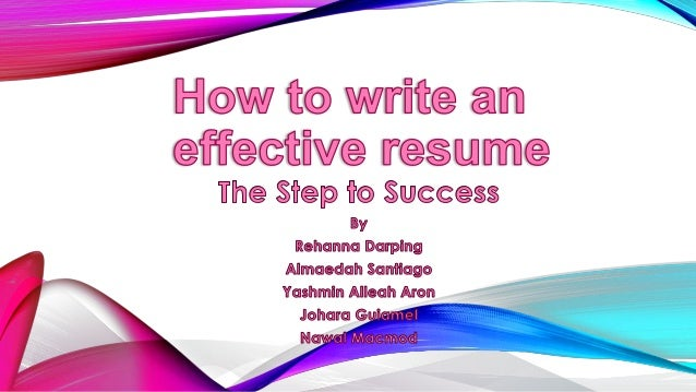 What Is Resume? A Resume Is A Short, Concise Document That States Relevant  ...  Writing An Effective Resume