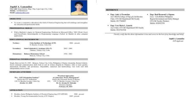 Resume Dear Ms
