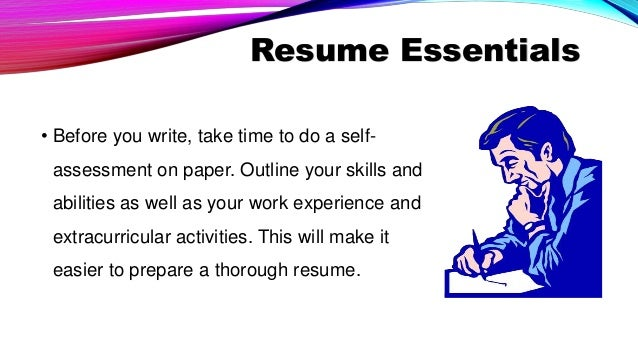 an effective resume and application letter