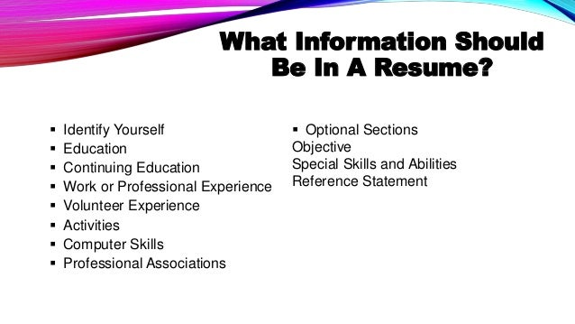 job resume definition