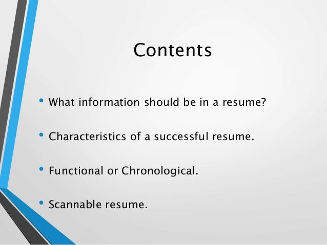what information should be on a resume