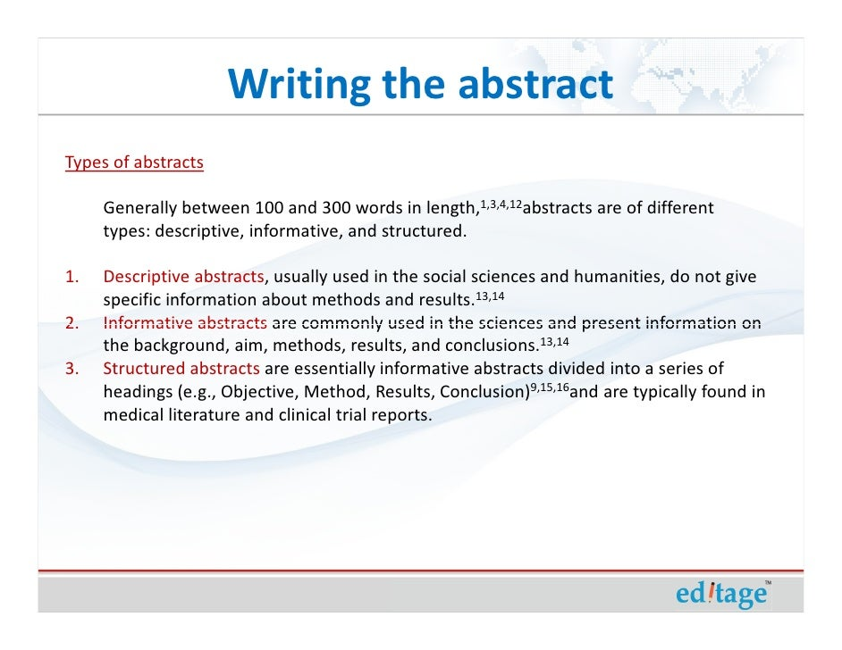 abstract of research paper Writing in psychology abstracts & references abstracts the abstract of a research but the length of the abstract should indicate the length of the paper.