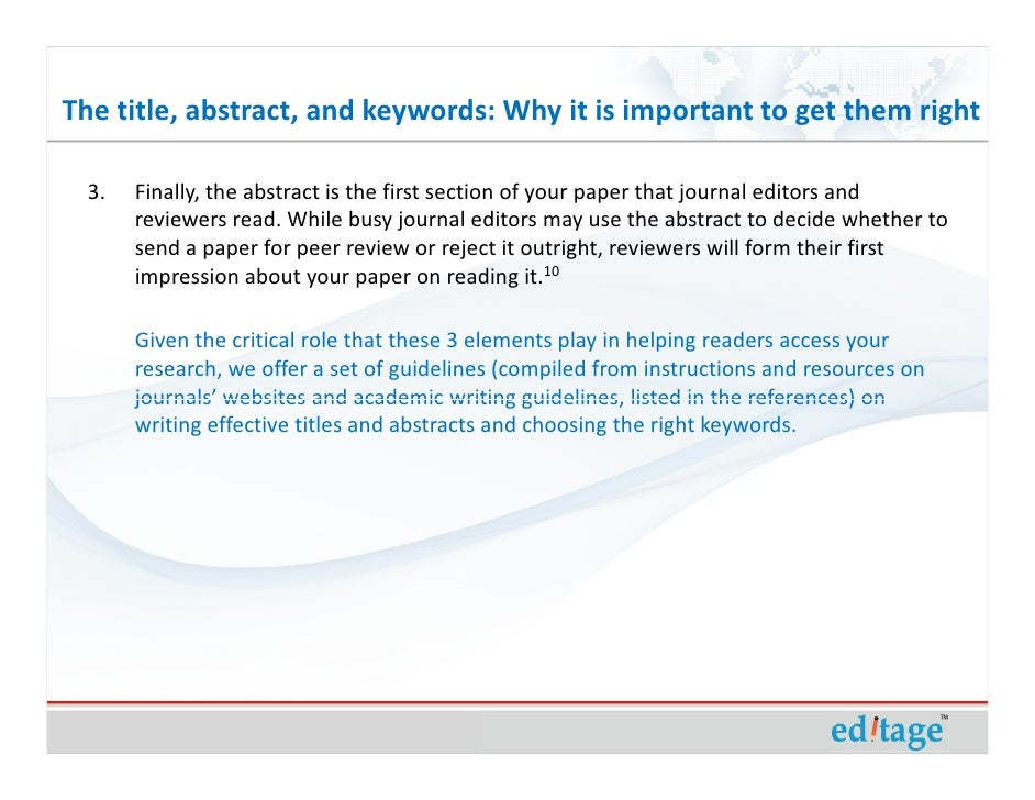 how to write an effective conference abstract