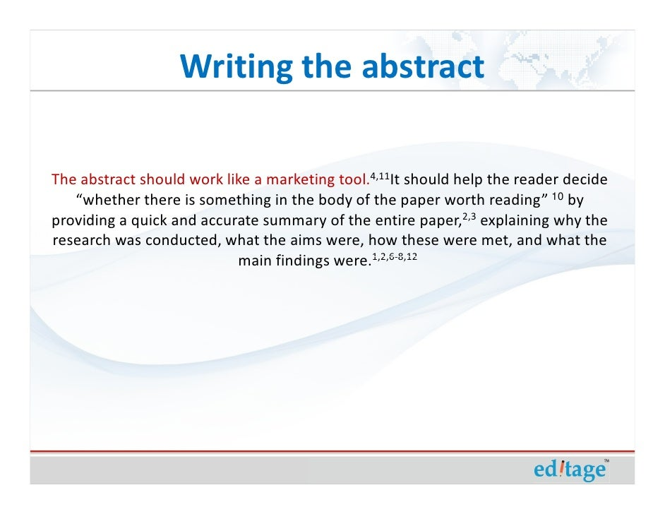 how to write an abstract for a review paper towns