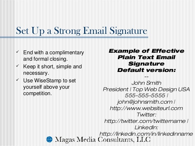 formal email signatures