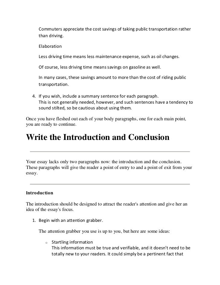 freeway congestion essay How to write an essay lecture - download as pdf file (pdf) write down some elaboration for that point if your main idea is reduces freeway congestion.