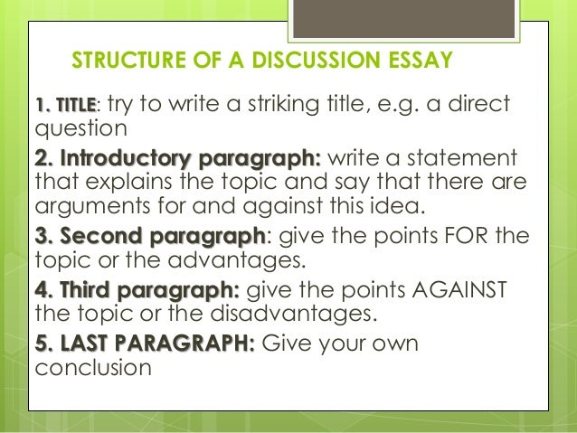 Discuss essay structure