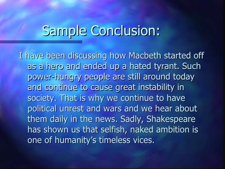 essay on ambition in macbeth English assignment – term 3 representations of ambition within macbeth within macbeth, there are numerous representations of human values and conflicts, including.