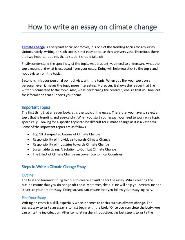 Write essay climate change sample argument essay topics