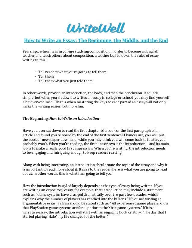 How To Write An Essay In High School  High School Graduation Essay also Abraham Lincoln Essay Paper How To Write An Essay The Beginning The Middle And The End  Abraham Lincoln Essay Paper