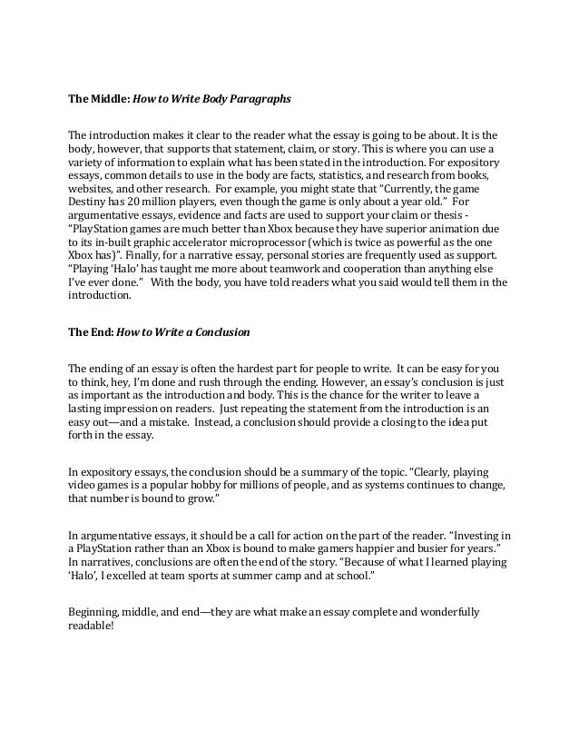 how to write an essay the beginning the middle and the end write  2