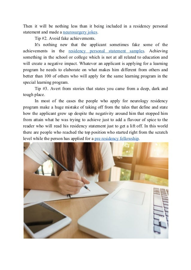 how to write a neurosurgery personal statement