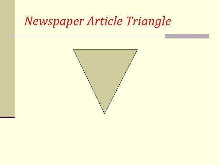 Newspaper Article Triangle