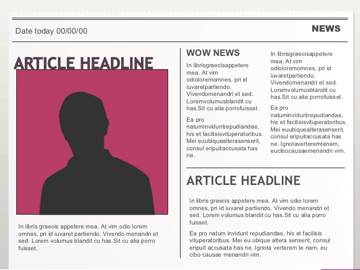 how to write a short newspaper article