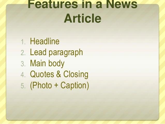 How to write a news report Slide 3