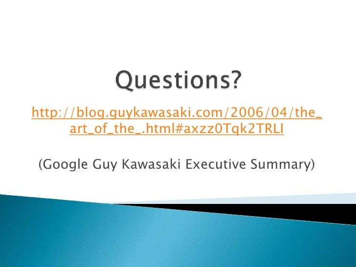 The Art Of The Start Guy Kawasaki Summary