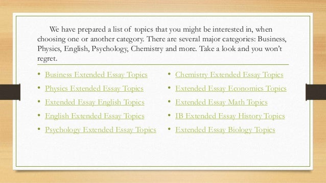 Ib English Extended Essay Format Extended Essay Sample Questions