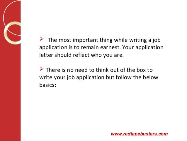 How to write an application letter for your first job