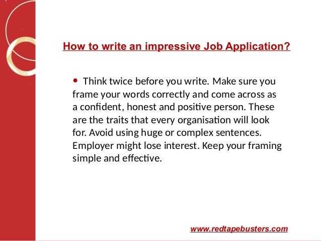 how to job application