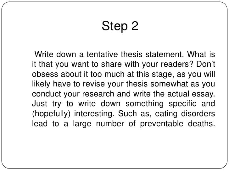 how to write an informative essay step