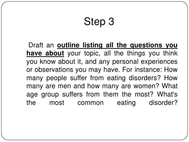 how to write an informative essay 6 step 3 draft an outline