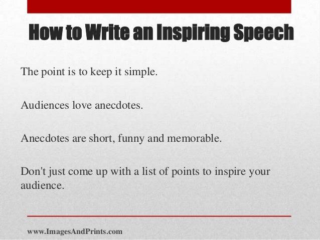 Write a speech for me