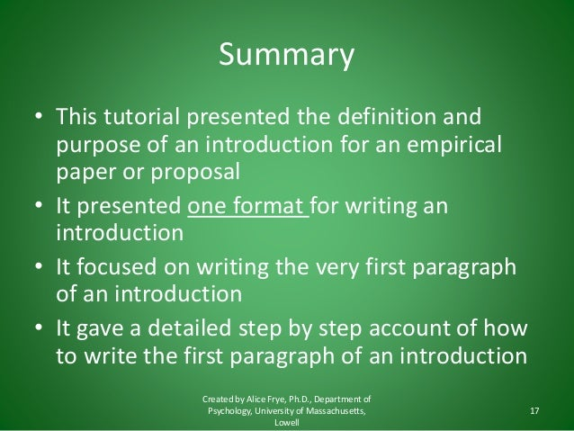 how to write a intro paragraph for an essay How to write a literary analysis essay typically, the thesis statement falls at the end of your introductory paragraph 2 the introduction.