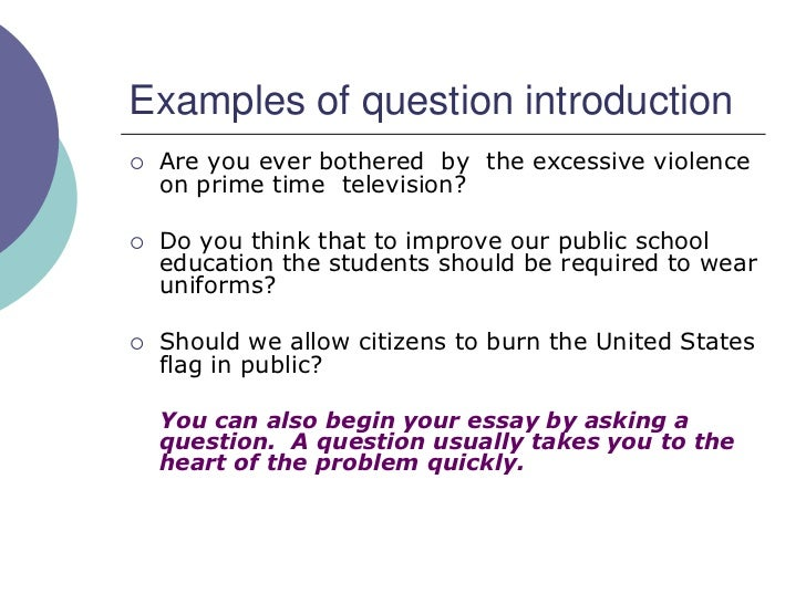 what to write as an introduction to an essay