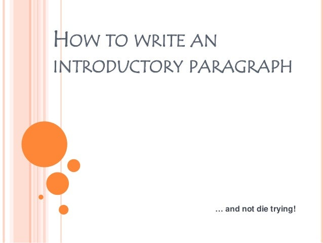 how to write ksc with introductory paragraph