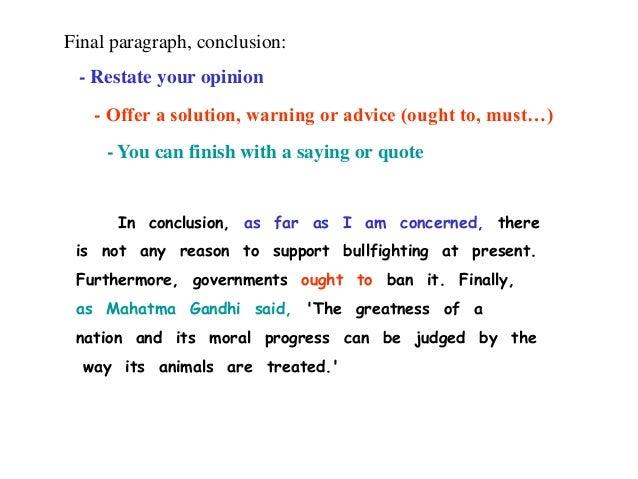 bullfighting opinion essay