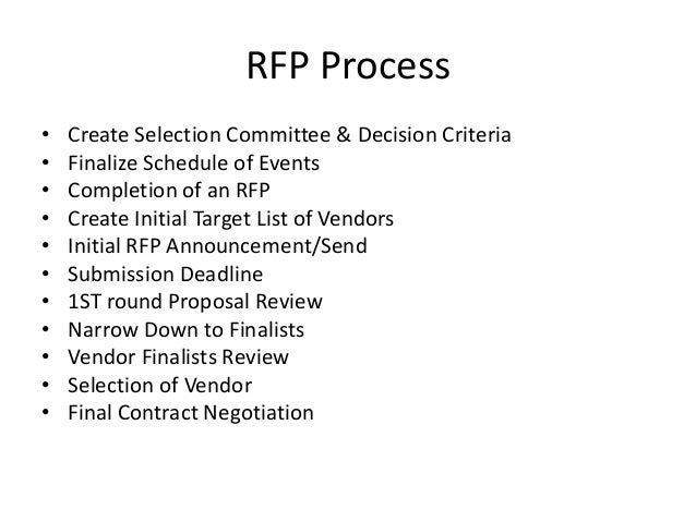 How to write an rfp