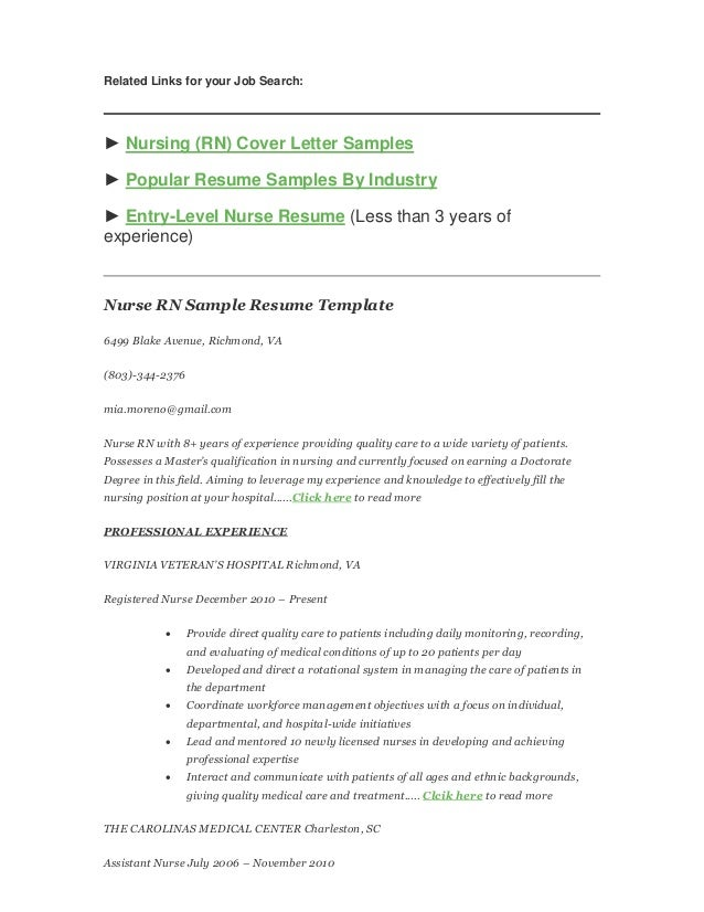 How to Write a Nursing (RN) Resume