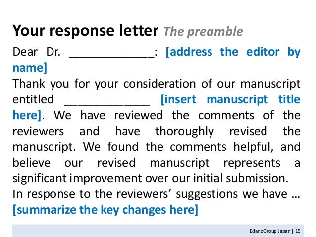 revised manuscript cover letter National academy of sciences contact feedback a cover letter if the editor has requested that you submit a revised direct submission manuscript.