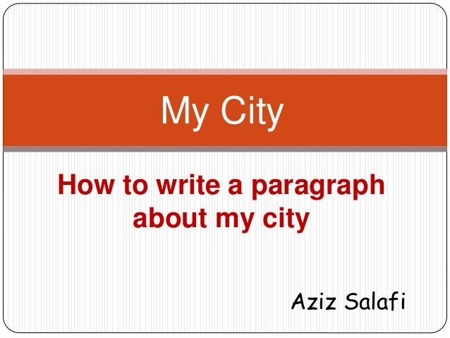 how to write a paragraph about myself