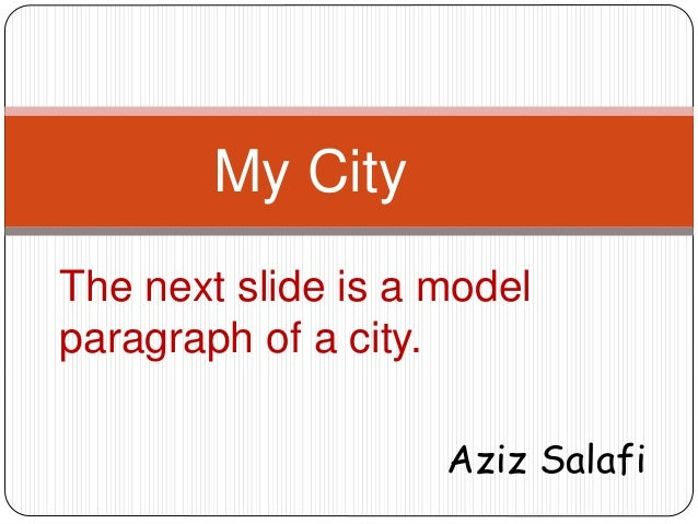 how to write about my city