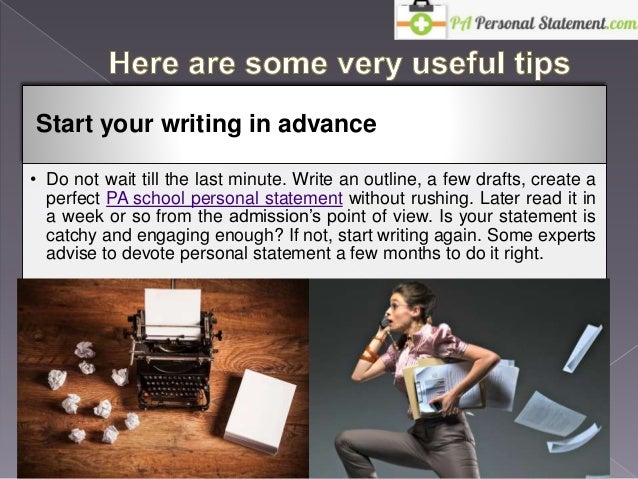 How to write your personal statement for pa school