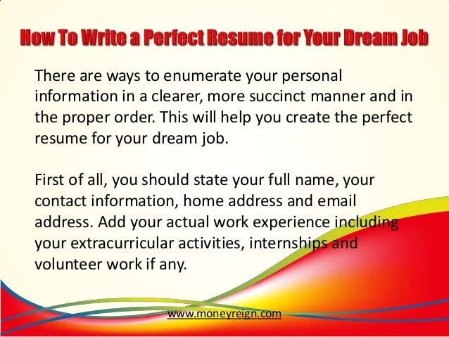 how to write a prefect resume