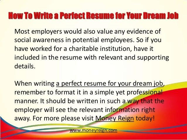 SlideShare  Writing The Perfect Resume