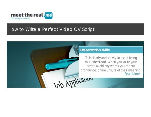 video cv script writing tips that will help you standing out from the u2026